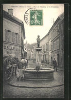 CPA Taverny, Rue De L'Eglise Et La Fontaine - Taverny