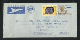 Botswana 1978 Air Mail Postal Used Aerogramme Cover With Stamps Botswana To Pakistan - Botswana (1966-...)