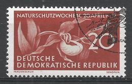 German Democratic Republic 1957. Scott #327 (U) Lady's Slipper Flower's * - [6] Democratic Republic