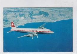 SWISSAIR DC 7C SEVEN SEAS. CIRCULEE SUISSE A ARGENTINE 1958 AFFRANCHISSEMENT MECANIQUE- BLEUP - 1946-....: Modern Tijdperk