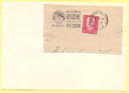 Deutsches Reich - 1929 - 15 + Special Cancel Dresden International Hygiene Ausstellung 1930 - Fragment On Paper - Brieven En Documenten