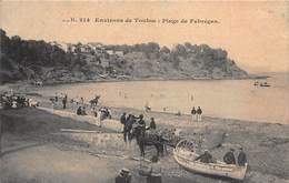 CPA ENVIRONS DE TOULON : Plage De Fabregas - Toulon