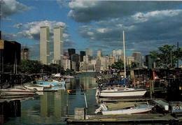 POSTAL DE NUEVA YORK 1147 - WORLD TRADE CENTER - TORRES GEMELAS (TWIN TOWERS) (303) CIRCULADA - Edificios & Arquitectura