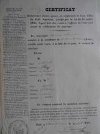 CERTIFICAT DE LA DÉLIVRANCE D'UN CONTRAT DE MARIAGE- 1861- SAINT-ETIENNE-DE-SAINT-GEOIRS (ISÈRE) - Unclassified