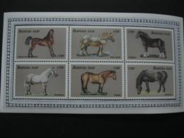 Burkina Faso 1999 Horses  Sheetlet  SCOTT No.1146  I201807 - Burkina Faso (1984-...)