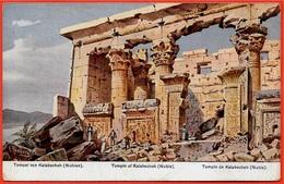 CPA AK Illustrateur F. PERLBERG - Tempel Von Temple Of De KALABSCHEH Nubia Nubien Nubie Egypte Egypt - Egypt