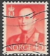 1958 King Olav, 45 Ore, Used - Norway