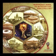 Russia 2018 Mih. 2577B (Bl.261B) Football. FIFA World Cup In Russia (imperf) MNH ** - 1992-.... Fédération