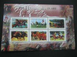 Gambia  2000 Horses In Art Sheetlet SCOTT No.2365 I201807 - Gambia (1965-...)