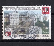 Venezuela, 1967- Cuatricentenario De La Ciudad De Caracas,Av. Libertador CORREO AEREO. Cancelled NH. - Venezuela
