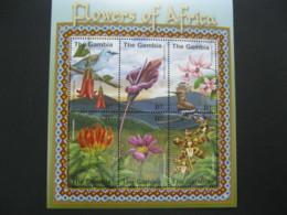 Gambia  2001 Flowers Sheetlet SCOTT No.2402 I201807 - Gambia (1965-...)