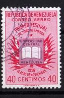 Venezuela, 1956- Primer Festival Del Libro De America.- Correo Aereo- Cancelled NH - Venezuela
