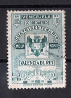 Venezuela, 1955- Cuatricentenario Valencia Del Rey.- Correo Aèreo. Cancelled NH - Venezuela