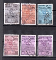 Venezuela, 1954-  X Conferencia Interamericana, Caracas. Lot Of Six Stamps . Cancelled NH - Venezuela