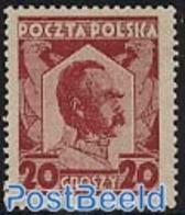 Poland 1927 Pilsudski 1v, (Mint NH), History - Politicians - 1919-1939 República