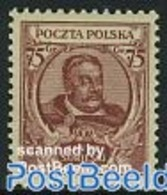 Poland 1930 King John III 1v, (Mint NH), History - Kings & Queens - 1919-1939 Republik
