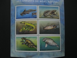 Central Africa 2001  Marine Life Sheetlet  SCOTT No.1390  I201807 - Central African Republic