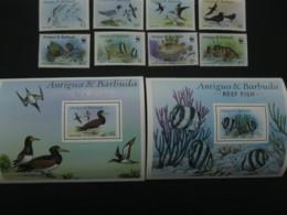 Antigua And Barbuda   Fish WWF  SCOTT No. 1005-1012 ,1013,1014 I201807 - Antigua And Barbuda (1981-...)