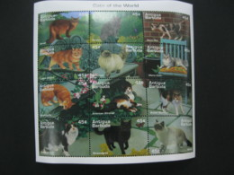 Antigua And Barbuda  1995 Fauna Cats Sheetlet   SCOTT No.1918 I201807 - Antigua And Barbuda (1981-...)