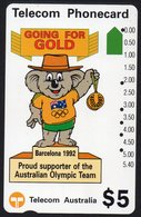 AUSTRALIA, 1992 $5 OLYMPIC KOALA MASCOT CARD USED - Australie