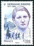 France N° 5129 ** Germaine Ribière, Résistante De La Seconde Guerre Mondiale - France