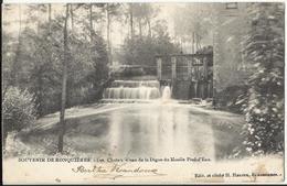 RONQUIERES - Souvenir De Ronquières - Les Chutes D'eau De La Digue Du Moulin Pied D'Eau (1905) - Braine-le-Comte
