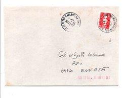 OBLITERATION MANUELLE DE SAINT ALYRE D'ARLANC  -GA-  PUY DE DOME - Marcophilie (Lettres)