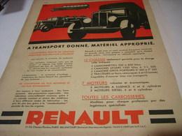 ANCIENNE PUBLICITE TRANSPORT  RENAULT 1931 - Camions