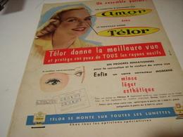 ANCIENNE AFFICHE PUBLICITE LUNETTE DE AMOR 1956 - Habits & Linge D'époque