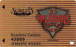 Scarlets & Teller House Casinos Central City CO Gold Level Slot Card - Casino Cards