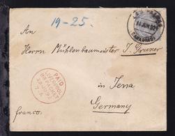 König Alfons XIII. Auf Brief Ab Las Palmas (Canarias) 14 JUN 92 Nach Jena Mit K1 - Espagne