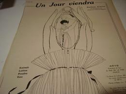 ANCIENNE PUBLICITE PARFUM UN JOUR VIENDRA ARYS 1919 - Perfume & Beauty