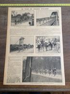 ANNEES 20/30 LE TOUR DE FRANCE CYCLISTE BREST VANNES QUIMPER ROCHE BERNARD SABLES D OLONNE - Vieux Papiers