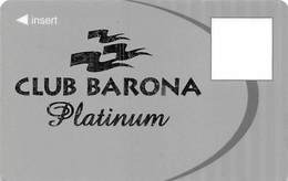 Barona Casino - Lakeside CA - BLANK Platinum Slot Card - Casino Cards