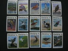 Dominica 1987 Birds Definitive  SCOTT No.989-1003 I201807 - Dominica (1978-...)
