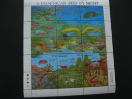 Dominica 1992 Reef Life Fishes  Sheetlet SCOTT No.1478 I201807 - Dominica (1978-...)