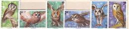 1992 BIRDS-Owls 6 V.-MNH  BULGARIA / Bulgarie - Bulgaria
