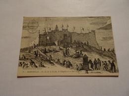 CPA Marseille - Notre-Dame De La Garde La Chapelle Et Le Fort En 1777 - Notre-Dame De La Garde, Lift
