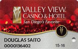 Valley View Casino Valley Center CA Slot Card - Casino Cards