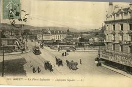 ROUEN .  La Place Lafayette .  Lafayette Square .  BELLE ANIMATION , Attelages . - Rouen