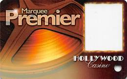 Hollywood Casino - Aurora, IL - Blank Marquee Premier Slot Card - Casino Cards