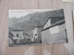 CPA 07 Ardèche Pont De Labeaume Route D'Aubenas Et Entrée Village TBE - Autres Communes