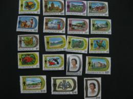 Dominica 1969  Definitive  SCOTT No.268-286  I201807 - Dominica (1978-...)
