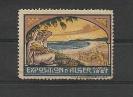 ALGERIE VIGNETTE POSTALE Sujet : EXPOSITION ALGER Avril 1921 Avec Gomme Passable >> Faire OFFRE !! - Autres