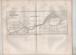 Carte Réduite Du Cours Inférieur De L'Amazone Erhard  Brésil 1862 - Cartes Marines