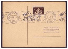 Dt- Reich (006377) Postkarte Mit Rollstempel Hochlandlager HJ 1936, Sonderpostamt Königsdorf über Bad Tölz Vom 25.7.1936 - Deutschland
