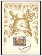 Dt- Reich (006386) Propaganda-Postkarte, Tag Der Briefmarke Als FDC MNR 828 Gelaufen Aschaffenburg Am 10.1.1943 - Deutschland