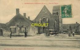 28 Levesville La Chenard, Place De L'Eglise, Superbe Machine à Vapeur De Batteuse - Francia