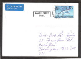 """E13-Iles Vierges Britanniques- Lettre VIRGIN ISLANDS Pour GRANDE BRETAGNE. Beau Cachet """" PAQUEBOAT MAIL. - Iles Vièrges Britanniques"""