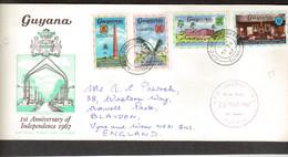 E13- GUYANA Enveloppe FDC GEORGTOWN Du 26 MAY 1967 Sur Série 246/249 - Timbres
